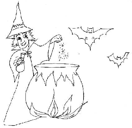 Disegni di Halloween per bambini - Disegni gratis da colorare Halloween 87954361961e