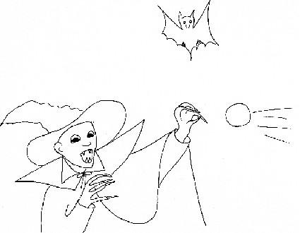 Vampiro Con Pipistrello Da Colorare Cose Per Crescere