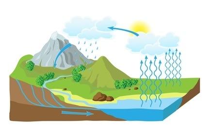 Fasi Del Ciclo Dellacqua Ciclo Idrologico Scuola Primaria