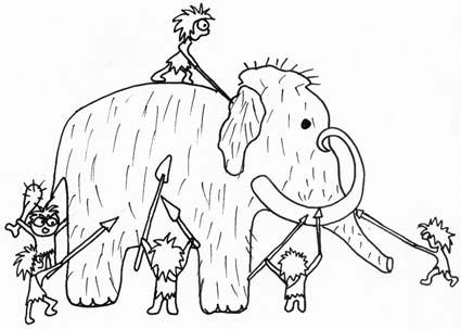 Caccia al mammut da colorare - Cose Per Crescere
