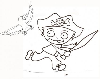 Disegno di giovane pirata cose per crescere - Pirata immagini da colorare i pirati ...