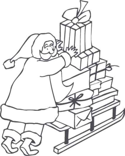 Disegno Babbo Natale da colorare