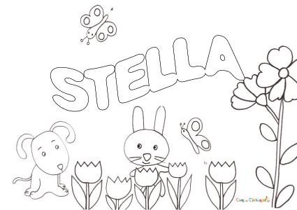 Nome Stella Da Colorare