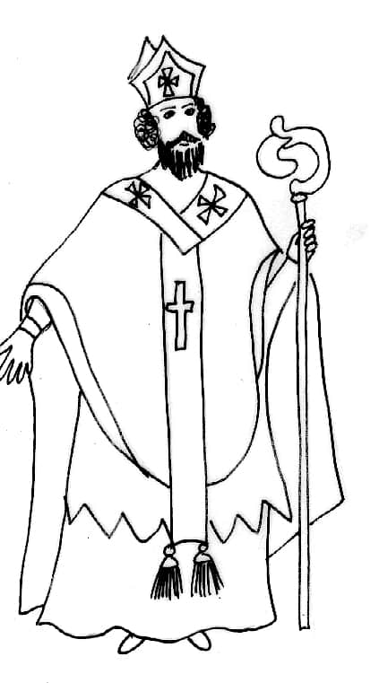 San nicola vestito da vescovo colorare cose per crescere