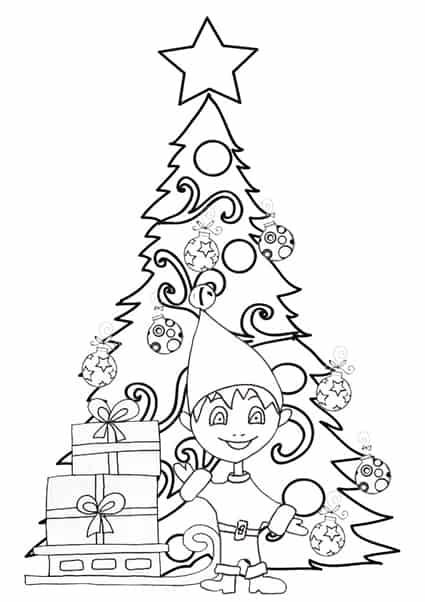 Albero Di Natale Con Folletto Da Colorare Cose Per Crescere