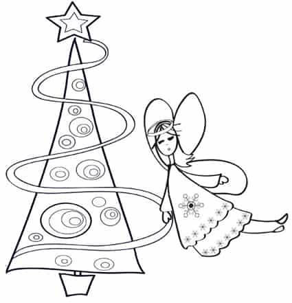Angelo Natale.Angelo Di Natale Da Colorare Cose Per Crescere