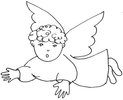 Disegni Angioletti Da Colorare Per Bambini.Angioletto Da Colorare Cose Per Crescere