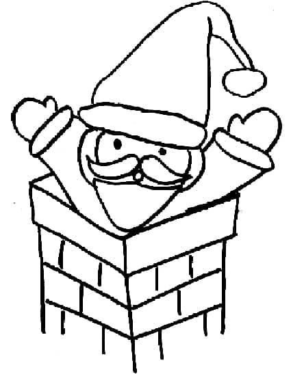 Babbo Natale disegno da colorare