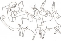 Disegno Della Slitta Di Babbo Natale Cose Per Crescere