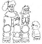 Disegni di bambini a scuola