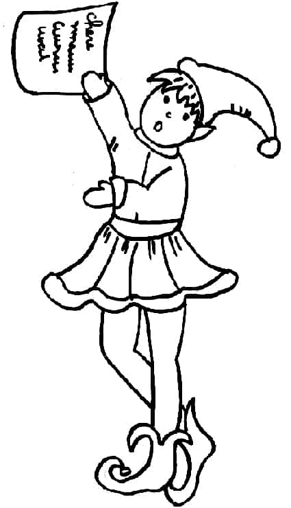Disegno elfi di babbo natale