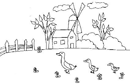 Disegno di fattoria cose per crescere for Paesaggi semplici da disegnare