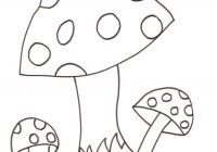 Funghi con lumaca da colorare for Fungo da colorare per bambini