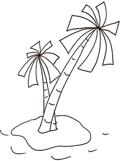 Disegno Di Una Piccola Isola Cose Per Crescere