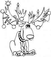 Disegni Di Natale Particolari.Disegni Di Renne Di Natale Da Colorare Cose Per Crescere