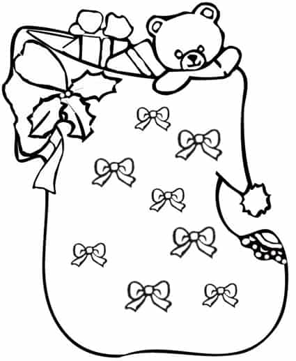 disegni da colorare sacco di babbo natale