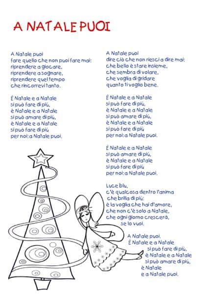 Testo A Natale puoi