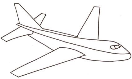 Disegno di aereo da colorare