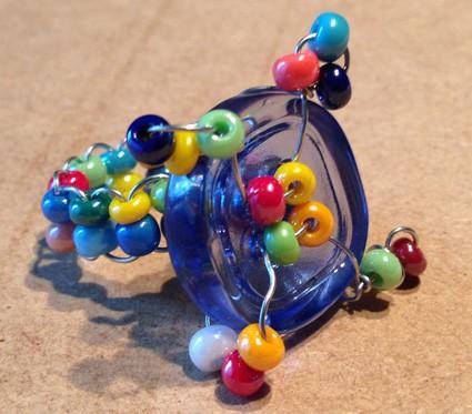 Anello di perle fai da te