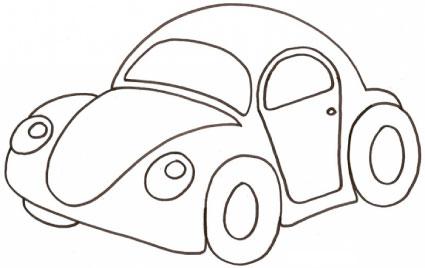 Maggiolino da colorare cose per crescere - Dessin voiture enfant ...