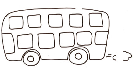 Disegno di autobus a due piani
