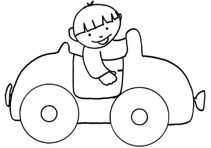 Bambino macchina decap - Profili auto per colorare ...