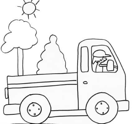 Disegno di furgoncino da colorare
