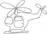 Elicottero da colorare per bambini