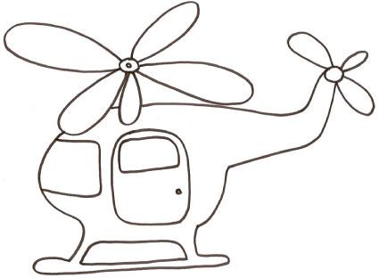 Disegno di elicottero per bambini