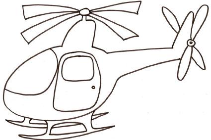 Elicottero da colorare