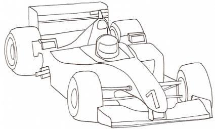 Macchina Di Formula Uno Da Colorare Cose Per Crescere