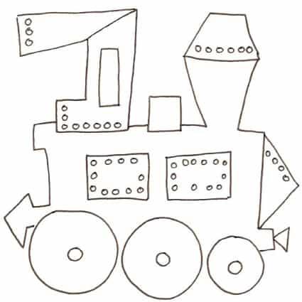 Disegno di locomotiva
