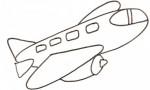 Disegno di un grosso aereo