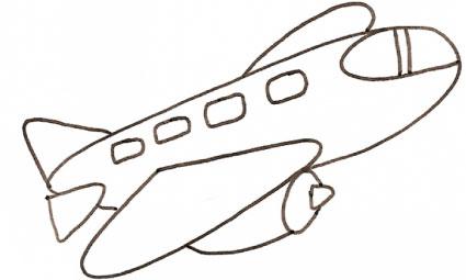 Disegno di grosso aereo per bambini