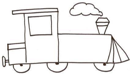 Disegno di locomotiva da colorare