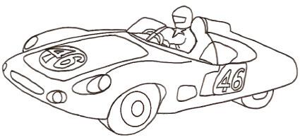 Disegni da colorare di auto d