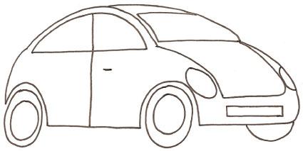 Maggiolino - Profili auto per colorare ...