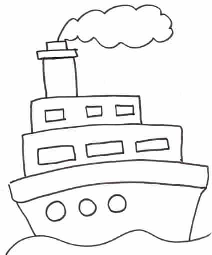 nave a due piani da colorare