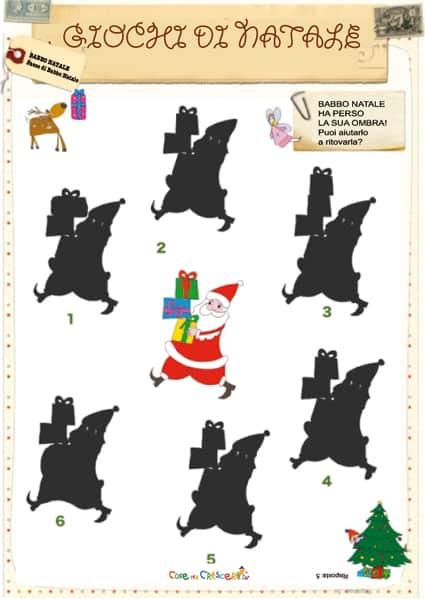 Gioco trova l'ombra di Babbo Natale