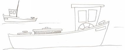 disegno di pescherecci