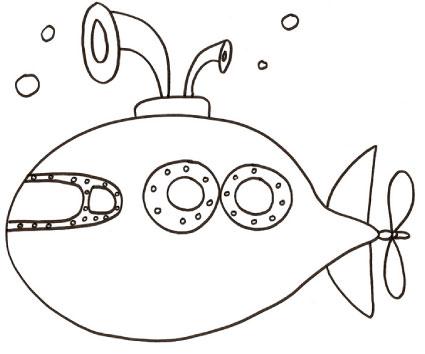 Disegno di sottomarino