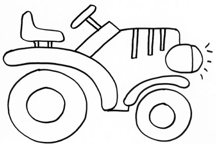 Disegno di trattore da colorare