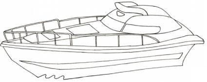 Disegno di yacht