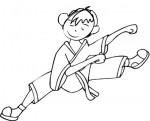Bambino judoka da colorare