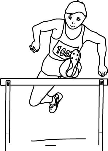 Disegno di corsa con ostacoli