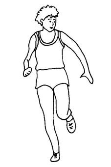 Atleta in corsa da colorare