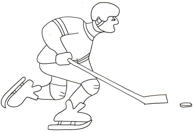 Risultati immagini per disegni di giocatori di hockey