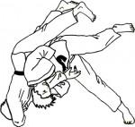 Combattimento di judo da colorare