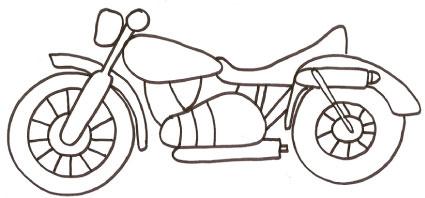 Moto Da Colorare Disegno Per Bambini Da Stampare Gratis