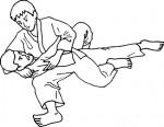 Presa di judo da colorare
